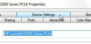 تنظیمات چاپ دورو hp 2055