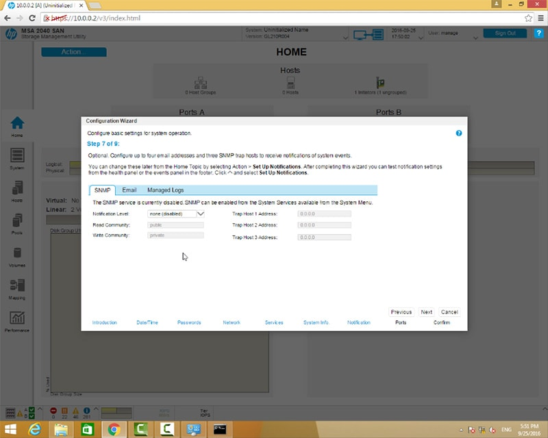 پیکربندی استوریج HPE MSA 2040