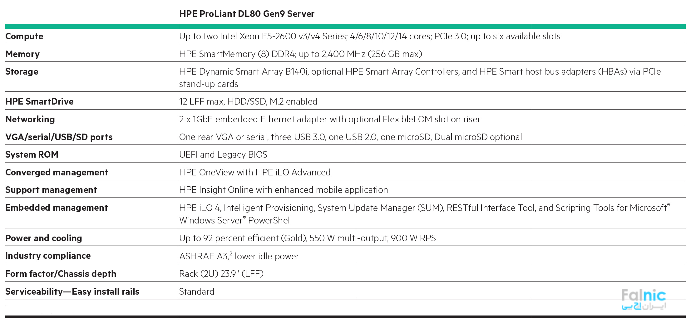 سرور HPE ProLiant DL80 Gen9