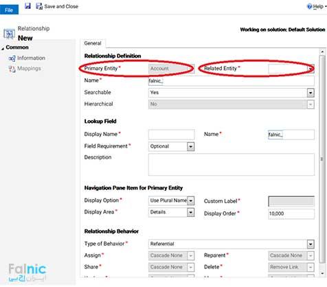 سفارشی سازی موجودیت ها در CRM