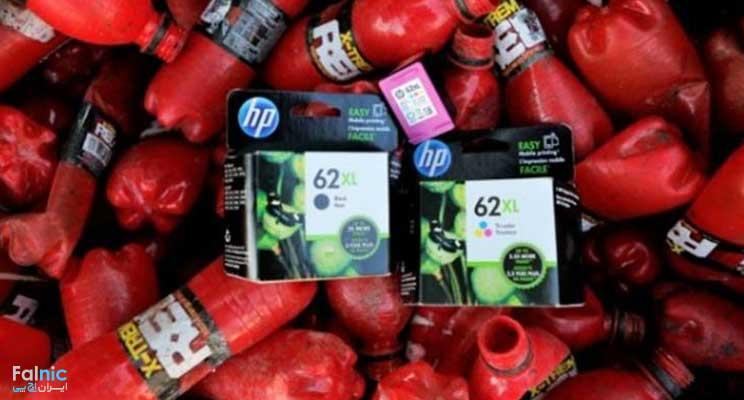 اچ پی با بطریهای بازیافتی کارتریج جوهرافشان تولید میکند
