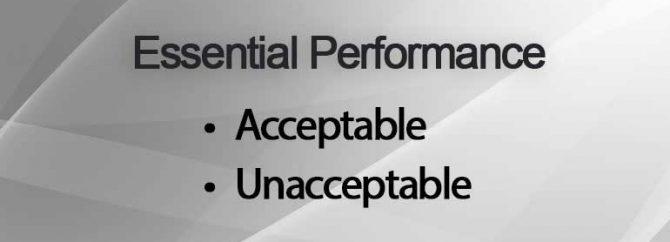 واژه نامه: Essential Performance یعنی چه؟