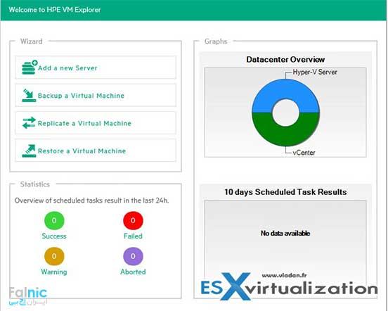 معرفی نرم افزار HPE VM Explorer 6.3
