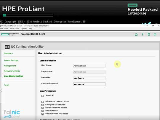 تنظیم کردن iLO در سرورهای اچ پی