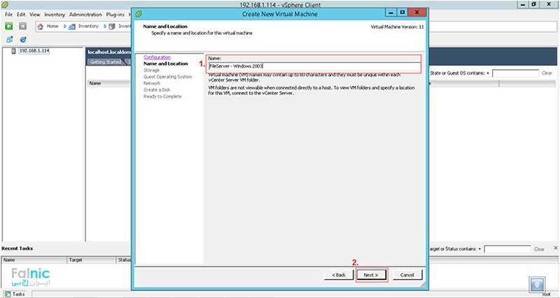 ایجاد ماشین مجازی برای نصب سیستم عامل روی ESXi 6
