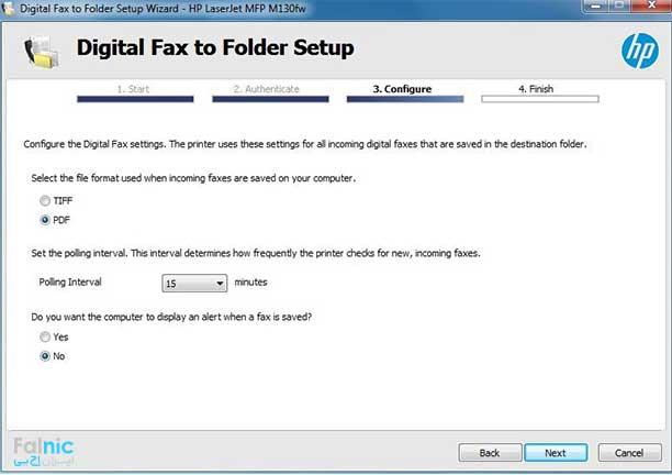 دریافت فکس از طریق کامپیوتر با پرینتر HP M130fw