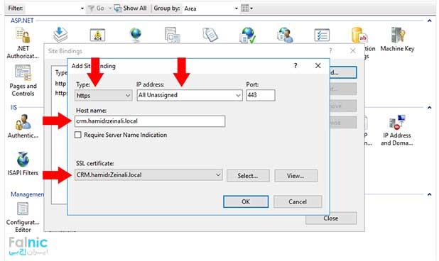 ایجاد Certificate ساده برای سرور CRM