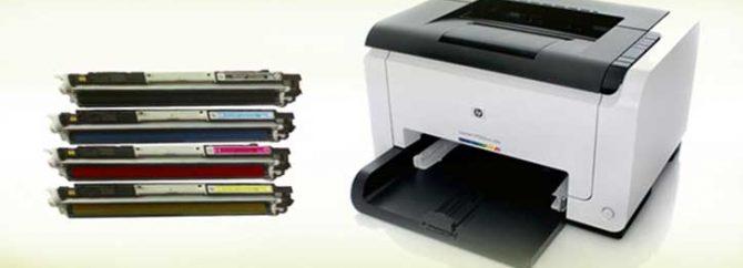 نحوه قرار دادن و خارج کردن کارتریج های پرینتر HP LaserJet CP1025