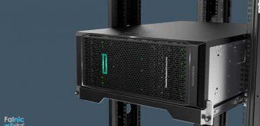نحوه قرارگیری سرور HPE ML350 در رک