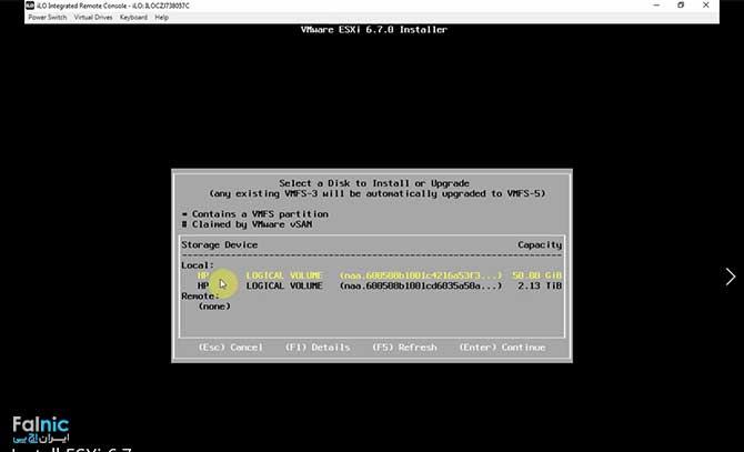 آموزش قدم به قدم نصب VMware ESXi 6.7