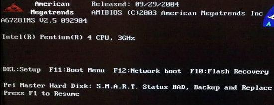 ارور smart failure predicted on hard disk
