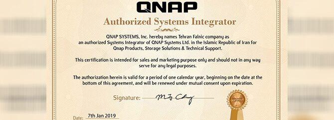 کسب مدرک بینالمللی QNAP توسط فالنیک (ایران اچ پی)