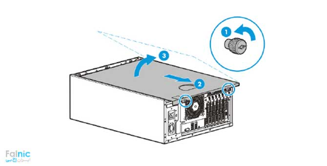 نصب HPE 240 Host Bus Adapter