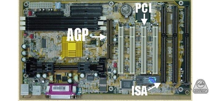 بررسی انواع اسلات کامپیوتر: AGP، ISA، PCI، PCIe، PCIX