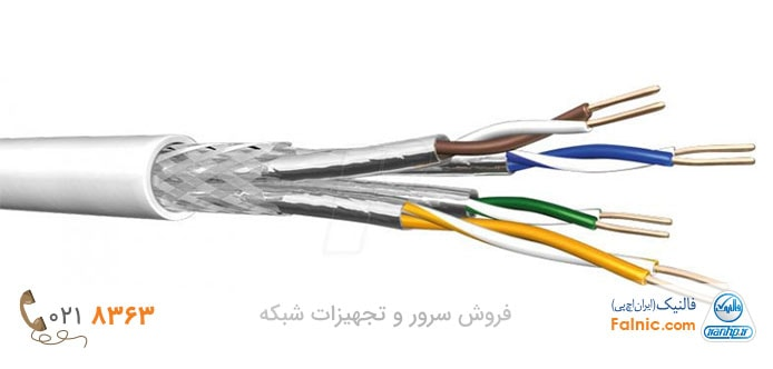 انواع کابل شبکه شیلد دار یا STP