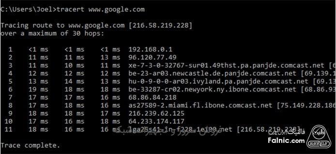 دستورات عمومی شبکه در محیط cmd