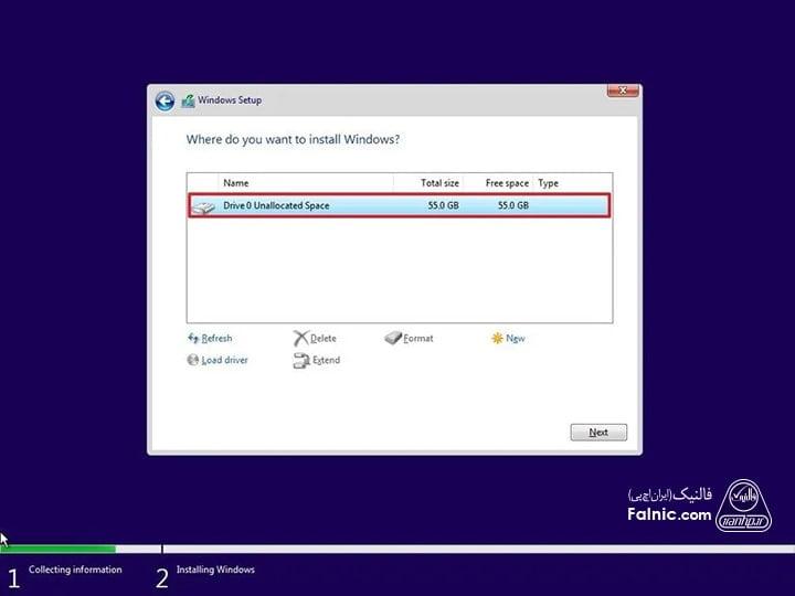 آموزش تصویری نصب ویندوز 10 -8