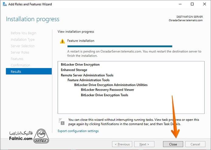 نحوه نصب بیت لاکر در ویندوز سرور