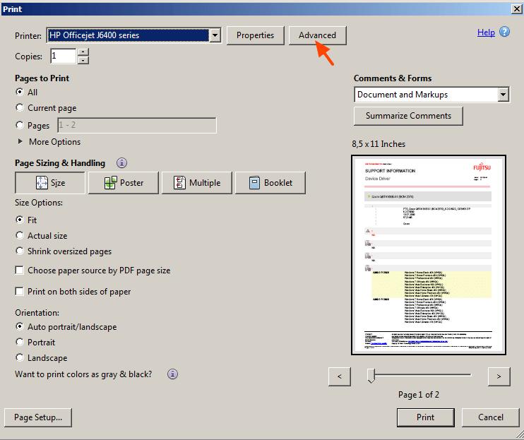 خروجی پی دی اف سیاه و سفید از فایل رنگی