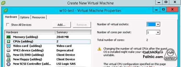 آموزش مراحل نصب ویندوز 10 روی vmware