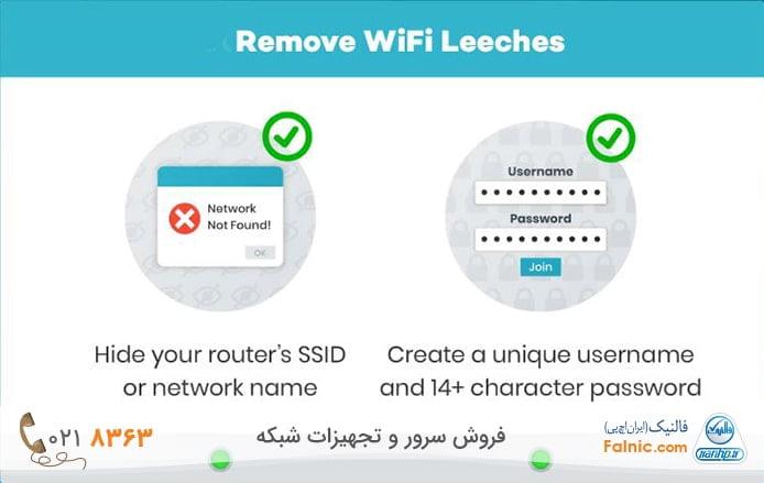 جلوگیری از دسترسی غریبهها به وای فای