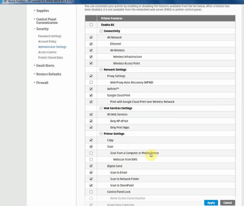 گزینه Scan from a Computer or Mobile Device برنامه HP Printer Assistant