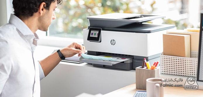 قرار دادن کاغذ در سینی ورودی کاغذ پرینتر HP