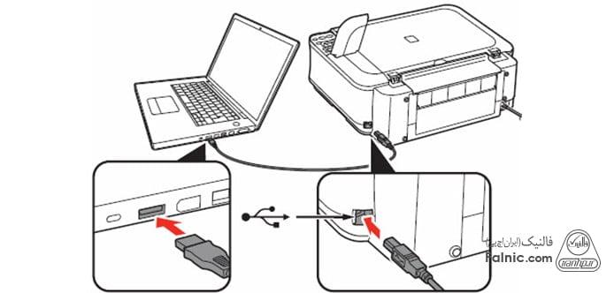 نحوه نصب چاپگر با کابل شبکه