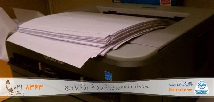 چاپ یک برگ سفید در هر دستور پرینت