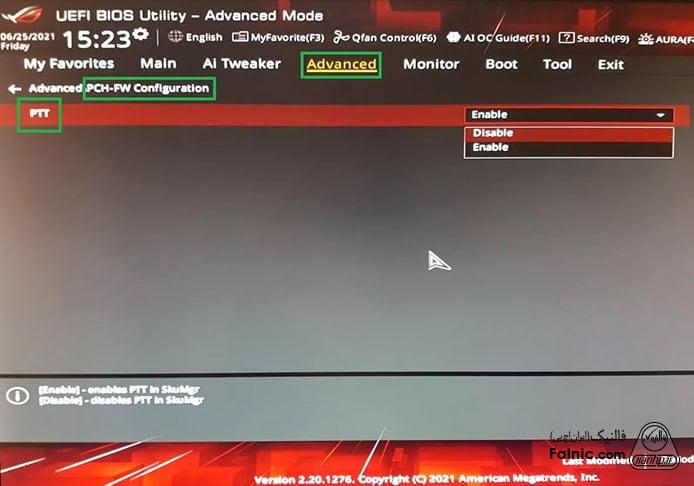 فعال سازی TPM برای نصب ویندوز 11